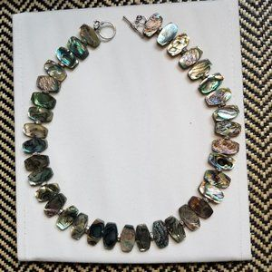 Pacific Style Sterling Silver Abalone Necklace